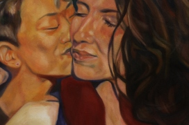 Gay Kiss (section) oil on canvas