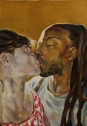 The Kiss Oil on Canvas 32 x 24